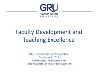 Faculty Development and Teaching Excellence