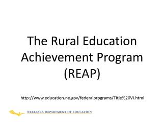 The Rural Education Achievement Program (REAP)