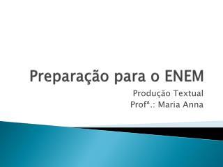 Preparação para o ENEM