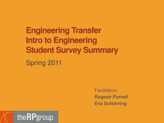 Engineering Transfer  Intro to Engineering  Student Survey Summary