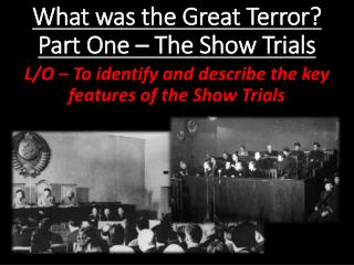 What was the Great Terror?  Part One � The Show Trials