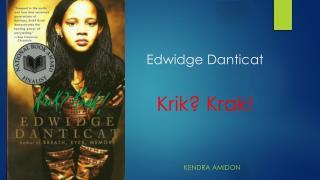 Edwidge Danticat Krik ?  Krak !