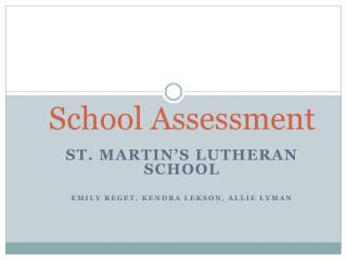 School Assessment
