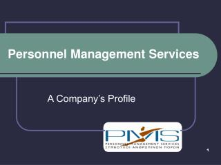 Personnel Management Services