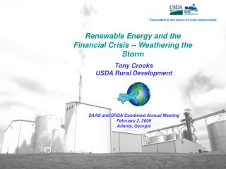 Renewable Energy and the Financial Crisis -- Weathering the Storm
