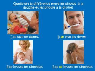 Quelle est la différence entre les photos  à la gauche et les photos à la droite?