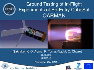Ground Testing of In-Flight Experiments of Re-Entry CubeSat  QARMAN