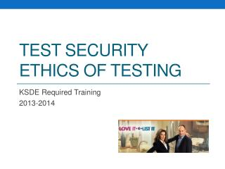 Test security Ethics of Testing