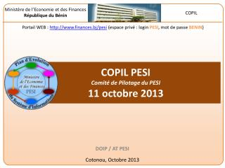 COPIL PESI  Comité de Pilotage du PESI 11 octobre  2013