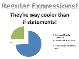 Regular Expressions! They're way cooler than If statements!