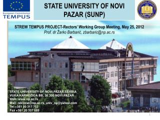 State University  of  Novi  Pazar  (SUNP )