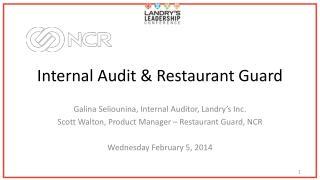 Internal Audit & Restaurant Guard