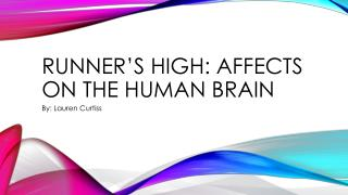 Runner's High: Affects on the human brain