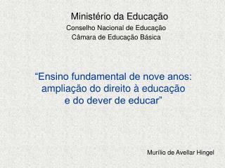 Minist rio da Educa  o