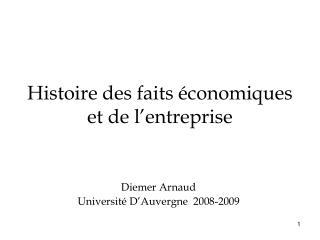 Histoire des faits  conomiques et de l entreprise