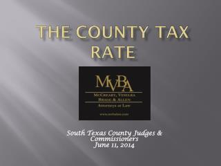 The County Tax Rate