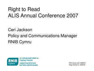 Right to Read ALIS Annual Conference 2007