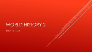 World History 2
