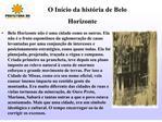 O In cio da hist ria de Belo Horizonte