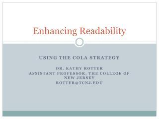 Enhancing Readability