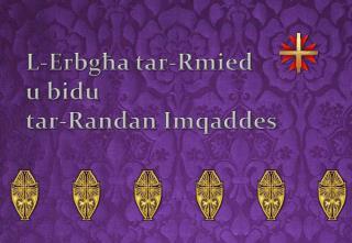 L-E rbgħa tar-Rmied u bidu  tar-Randan Imqaddes