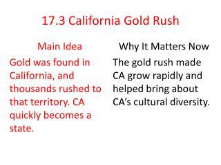 17.3  California Gold Rush