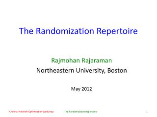 The Randomization Repertoire