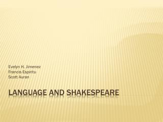 Language and Shakespeare