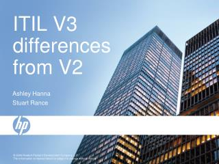 ITIL V3 differences from V2
