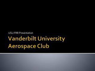 Vanderbilt University Aerospace Club