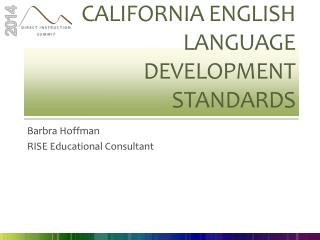California English Language Development  Standards