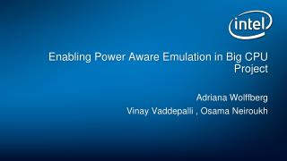 Enabling Power Aware Emulation in Big CPU Project