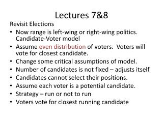 Lectures 7&8