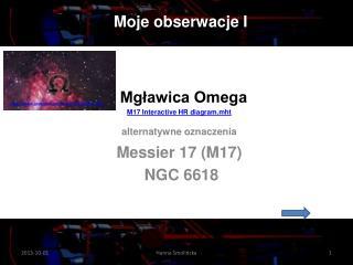 Mgławica Omega M17  Interactive  HR  diagram.mht alternatywne oznaczenia Messier  17 (M17)