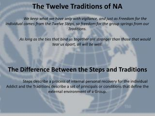 The Twelve Traditions of  NA