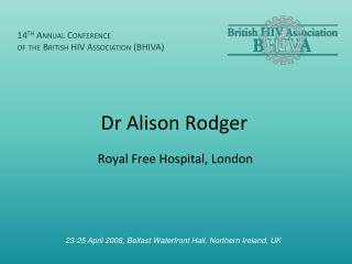 Dr Alison Rodger