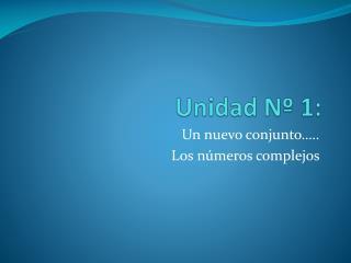 Unidad Nº 1: