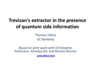 Trevisan's extractor in the presence of quantum side information