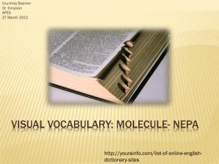 Visual Vocabulary: Molecule- NEPA