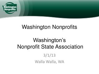 Washington Nonprofits Washington's  Nonprofit State Association