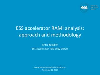 ESS accelerator RAMI  analysis : approach and  methodology