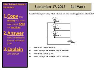 September 17,  2013      Bell  Work