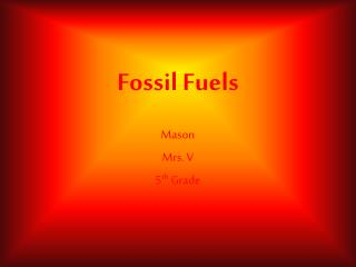 Fossil Fuels