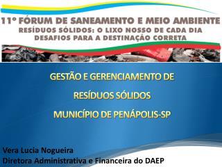 GESTÃO E GERENCIAMENTO DE  RESÍDUOS SÓLIDOS  MUNICÍPIO DE PENÁPOLIS-SP