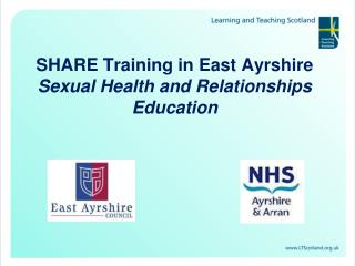 SHARE Training in East Ayrshire Sexual Health and Relationships Education