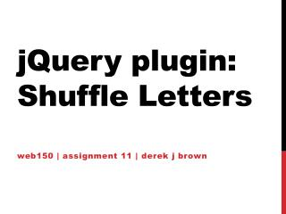 jQuery  plugin: Shuffle Letters