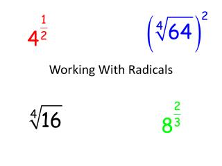 Working With Radicals