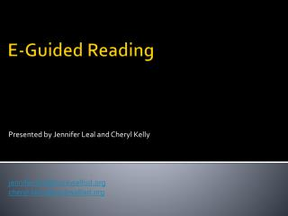 E-Guided Reading