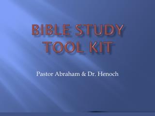 Bible study tool Kit