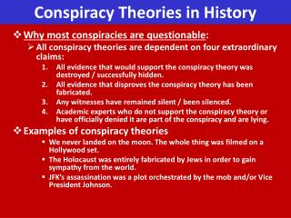 Conspiracy Theories in History